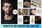 ACCESORIOSS DE ORO LAMINADO 18K PARA CABALLEROS Y