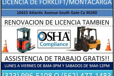 Certificacion de OSHA en Los Angeles