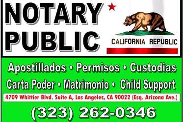 NOTARY PUBLIC►MATRIMONIOS en Los Angeles County