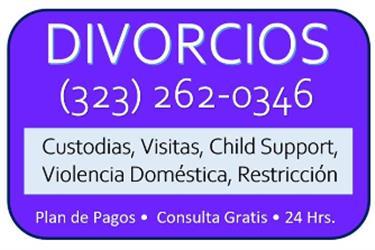 CUSTODIA►VISITAS►CHILD SUPPORT en Los Angeles