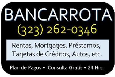 BANCARROTAS/DESALOJOS en Los Angeles County