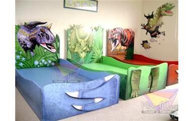 camas individuales con diseño image 2
