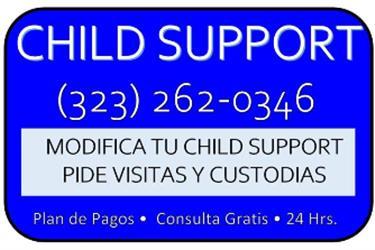 DIVORCIOS/CHILD SUPPORT/VISITA en Los Angeles County
