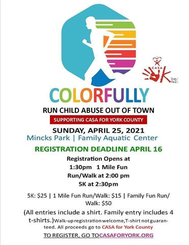 Colorfully Run Child Abuse image 1