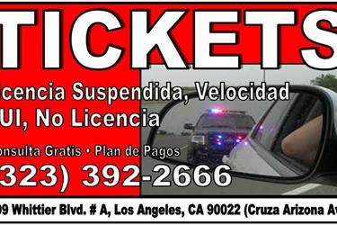 TICKETS? ORDEN DE ARRESTO? 24H en Los Angeles