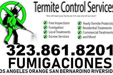 Fumigaciones 323-861-8201 Gas en Los Angeles