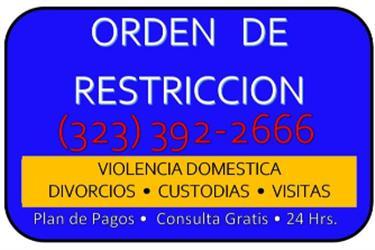 DIVORCIOS-VISITAS/CUSTODIA!!!! en Los Angeles County