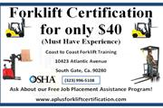 Forklift Cert/ License