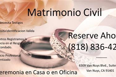 MATRIMONIO CIVIL EN OFICINA en Ventura County