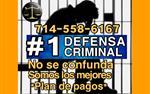 #1 DEFENSA CRIMINAL.-. en Los Angeles