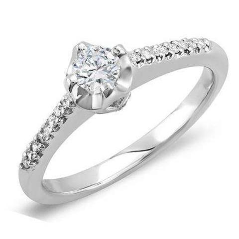Diamond Bridal Promise Ring image 1