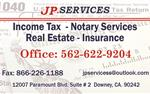 JP SERVICES TAXES, ITIN, Y MAS en Los Angeles