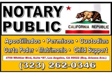 CONTRATOS/TRADUCCIONES►NOTARY en Los Angeles County