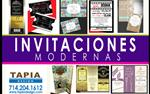 INVITACIONES MODERNAS New en Los Angeles