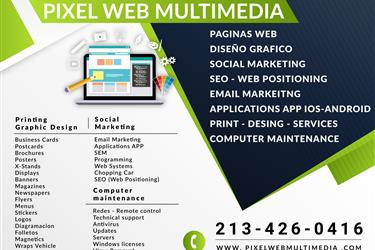 PAGINAS WEB-PRINT-DESIGN WEB en Fort Worth