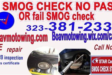 STAR SMOG CHECK 323-800-1017 en Los Angeles County