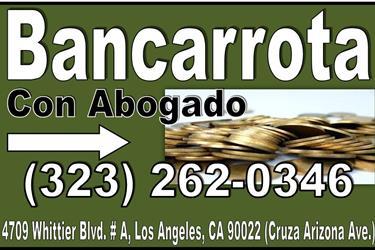 •►Plan de Pago para Bancarrota en Los Angeles County