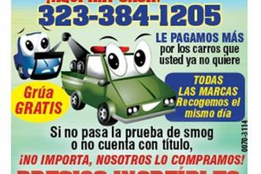 WE   BUY  JUNKS CARS  FAST$$$$ en Los Angeles