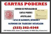 ► CARTAS PODER • APOSTILLADAS