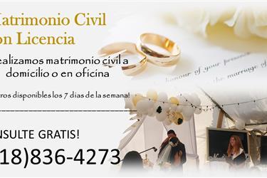 MATRIMONIO CIVIL AL INSTANTE en Los Angeles County