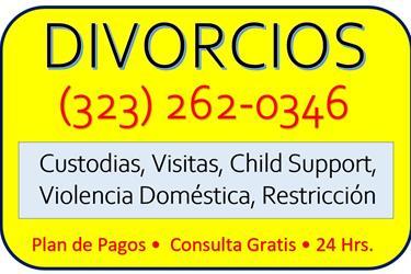 DIVORCIOS • 6 MESES•CALIFORNIA en Los Angeles County