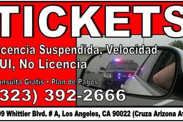 TICKETS? ORDEN DE ARRESTO? en Los Angeles County