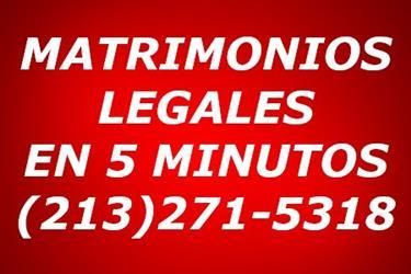 MATRIMONIO LEGAL EN 5 MINUTOS en Los Angeles