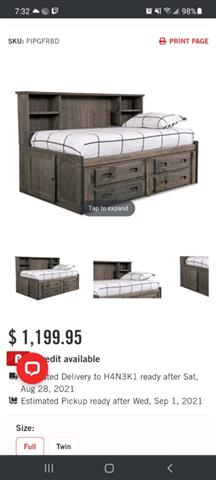 $600 : Double bed image 4