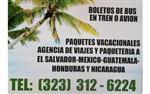 Especial a El Salvador $466 en Los Angeles