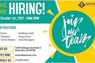 WE ARE HIRING! JOIN OUT TEAM en Orange County