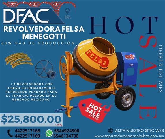 $24900 : MEZCLADORA DE CONCRETO REFORZA image 1