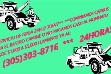 COMPRAMOS CARROS CAMINE O NO en Miami