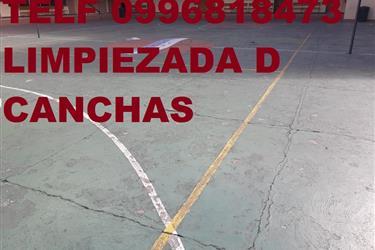 LIMPIEZA DE CANCHAS DE HORMIGO en Quito