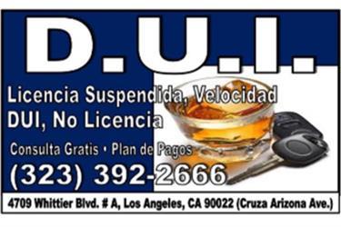 CONSULTA GRATIS Y PLAN DE PAGO en Los Angeles