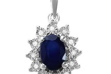 Blue Sapphire Ladies Pendant en Los Angeles County