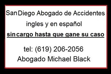 San Diego Abogado de Accidente en San Diego County