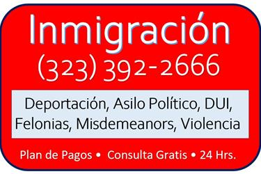 CASO INMIGRATORIO Y CRIMINAL en Los Angeles