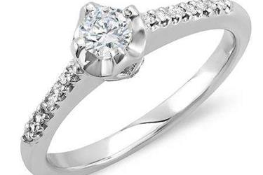 Diamond Bridal Promise Ring en Los Angeles County