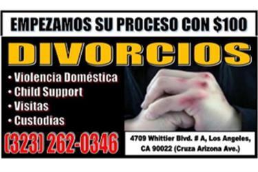DIVORCIOS CUSTODIAS VISITAS en Los Angeles County