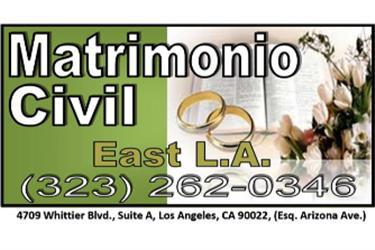 **MATRIMONIOS CIVILES en Los Angeles