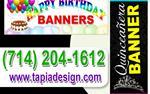 Mantas para Cumpleaños Banners en Orange County