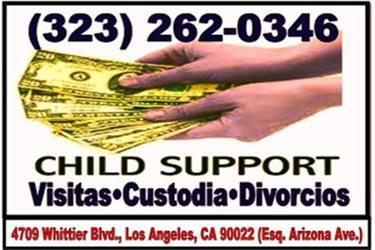 CUSTODIA•CHILD SUPPORT•VISITAS en Los Angeles