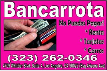 AMPARATE EN BANCARROTA en Los Angeles County