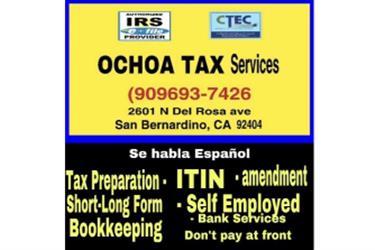 TAX Preparation ITIN en San Bernardino County