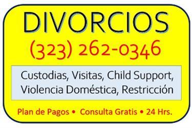 DIVORCIOS - RAPIDOS en Los Angeles County