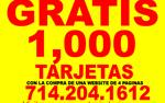 GRATIS 1,000 TARJETAS en Los Angeles