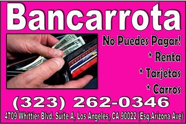 ••• BANCARROTA PLAN DE PAGOS! en Los Angeles