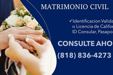 MATRIMONIO CIVIL EN CASA en Los Angeles