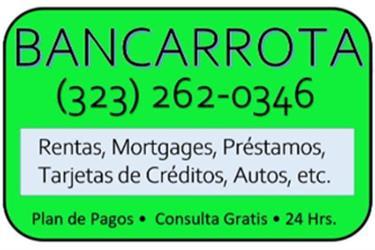 ► BANCARROTAS CON ABOGADO en Los Angeles County
