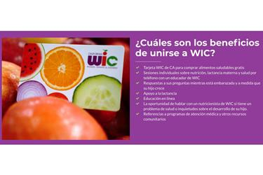 JOIN THE WIC PROGRAM TODAY en Los Angeles County